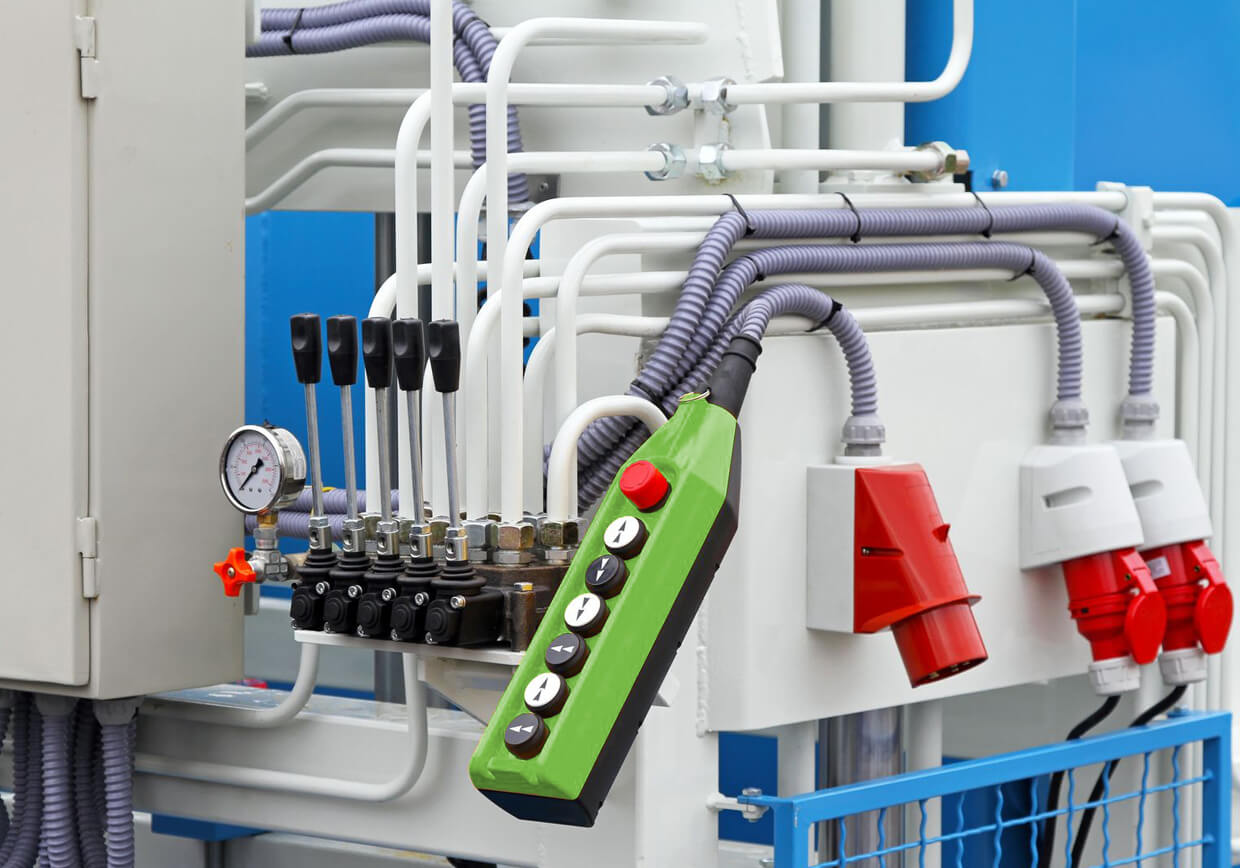 Dynamic Electrical Systems Australia - Local Electricians Adelaide. Image of industrial machine controls.
